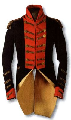 The uniform tunic of an 18th-century British Royal Horse Guards officer, the oldest in the regimental collection [Household Cavalry Regimental Collection.