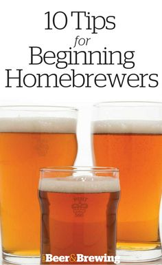 10 Tips for Beginning Homebrewers