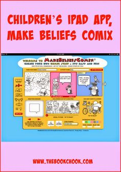 Children's iPad App, Make Beliefs Comix - great way for kids to tell a digital story! #elemed