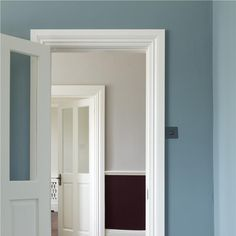 Hall in Oval Room Blue, Cornforth White & Brinjal