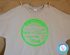 Kansas State Seal - Adult T-Shirt by HandyDandyDesign on Etsy