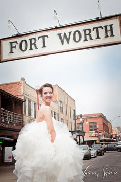 Fort Worth Stockyards Bridal Portraits