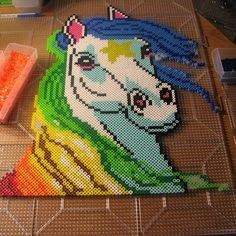 Rainbow Brite - Starlite perler beads by ndbigdi - Pattern: https://de.pinterest.com/pin/374291419013001001/