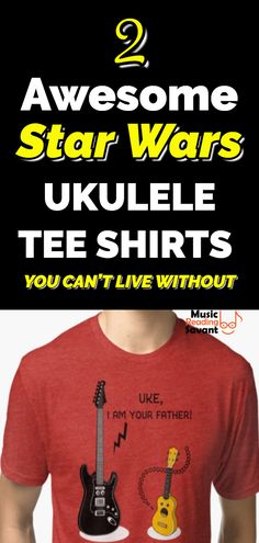 83c711fd ... I love these awesome Star Wars parody ukulele t-shirts with fun sayings  & colorful
