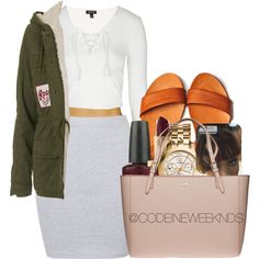 1/30/16 by codeineweeknds on Polyvore featuring polyvore, fashion, style, Topshop, Annie Greenabelle, Tory Burch, Yves Saint Laurent, OPI, women's clothing and women's fashion