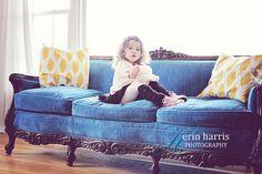 This Full House: Vintage Blue Velvet Sofa   A Fabulous Find