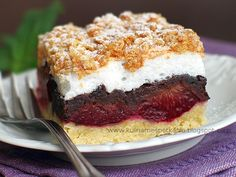 Kulinarne Spotkania: Pleśniak ze śliwkami Polish Desserts, Polish Recipes, Sweet Recipes, Cake Recipes, Plum Cake, Cooking Recipes, Healthy Recipes, Food Cakes, Baked Goods