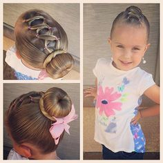 """Today we did a style inspired by all the #FairyTaleTwin posts I have seen this morning! We did a Rapunzel (corset dress) inspired front with a Cinderella bun!#tinzbobenz #cutegirlhairstyles #toddlerhair #princesshair #rapunzel #Cinderella #vegasliving #crisscross #ballerinabun"" Photo taken by @ashley_cardon on Instagram, pinned via the InstaPin iOS App! http://www.instapinapp.com (07/18/2015)"