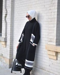 chic hijab winter coat