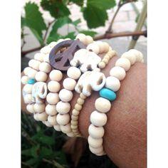 Bracelets en bois :LOT DE 3 AU CHOIX Marie, Pearl Necklace, Yoga, Pearls, Bracelets, Jewelry, Wood Bracelet, Bijoux, String Of Pearls