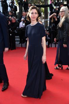 Sofia Coppola is wearing a Valentino gown especially designed by Creative Directors.