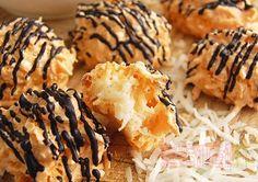 [烘焙菜鳥日誌] 超簡單小點心「椰子球」(Rochers Congolais)再淋上巧克力更讚! ~食指大動TV ~ 食指大動%Food-Funs