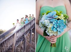 seaglass colors in this St. Augustine wedding at The Reef by Brooke Images