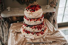 Meringue Tower Wedding Cake   Wtoo by Watters Princess Style Bridal Gown For An Elegant Classic Wedding At Charlton House With Images by Jason Mark Harris