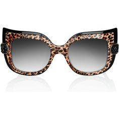 Anna Karin Karlsson Leopard Sunglasses as seen on Paris Hilton