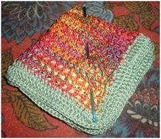 Grandma's Scrap Thread Dish/Wash Cloth - free crochet pattern
