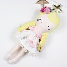 Excited to share this item from my shop: Sally handmade custom heirloom doll Liberty Gifts, Dead Bride, Alice In Wonderland Costume, Cute Baby Gifts, Bride Of Frankenstein, Girls Dress Up, Fabric Dolls, Girl Costumes, Toys For Girls