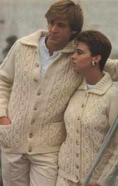 PDF Ladies & Mens Aran Cardigan / Jacket by PDFKnittingCrochet