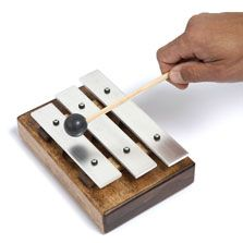 Get a meeting chime that will bring people back to their seats with just a gentle tap of the mallet. Great for office meetings and classrooms. Time Timer, Action Research, Percussion, Teaching Tools, Wood And Metal, Musical Instruments, Musicals, Warehouse, Trainers