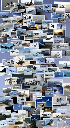 air force plane collage