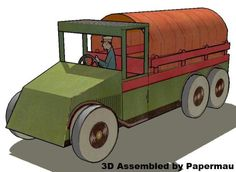 PAPERMAU: The Oldtimer Truck - French Vintage Paper Model - by Agence Eureka