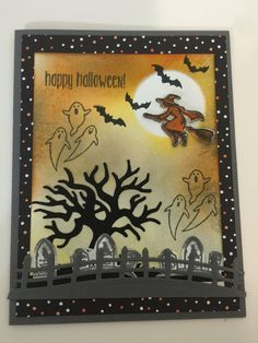 Stampin' Up Sweet Home stamp set and Home sweet Home thinlits and Spooky Fun stamp set and Spooky Fun Edgelits