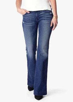 7 For All Mankind Dojo Trouser/Wide Leg Jeans Sz 28