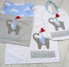 Set asilo personalizzato - Set ricamato per asilo bimbo o bimba