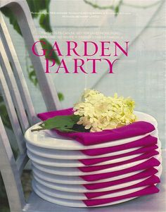 garden party {domino mag}... good idea for plates too #gardenweddings #placesetting