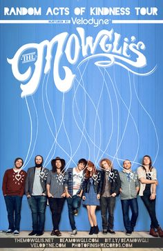 The Mowgli's // I absolutely love this band, poster concept, & not to mention their stunning logo //