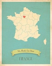 France My Roots Map from Children Inspire Design