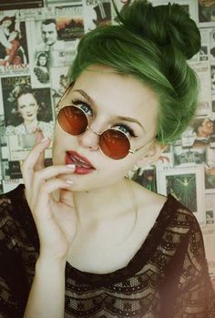 1. -potential new hair color- why not green, it should be normal like blonde hair in our century