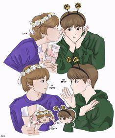 Nct 127, Nct Dream Jaemin, Fanarts Anime, Kpop Fanart, Mark Nct, Ship Art, My Idol, Jaehyun, Cute Cartoon