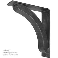 The Stout Corbel features a solid crescent design that can support everything from massive granite counter top overhangs to fireplace mantels, 4 finish options.