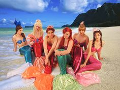 """Since I'm pumped to be a part of performing """"The Little Mermaid"""" soon, I'd like to share with you this great cosplay of Ariel and her sisters!"""