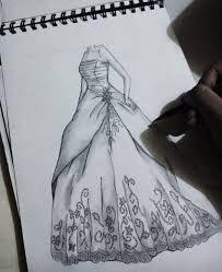 Resultado de imagen para vestidos dibujados a lapiz de noche