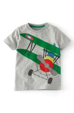 Mini Boden Vehicle Appliqué T-Shirt (Toddler Boys, Little Boys Big Boys) available at #Nordstrom