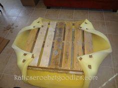 wood pallet ottoman