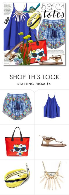 """""""In the Bag: Beach Totes"""" by svijetlana ❤ liked on Polyvore featuring Karl Lagerfeld"""