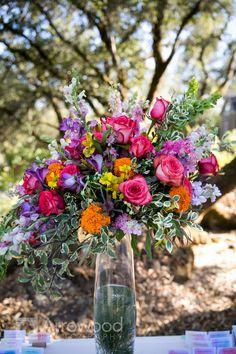 Vibrant Floral Arrangement // Wedding Planning {So Eventful}