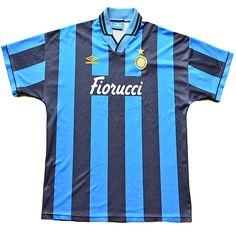 Inter Milan 1994 – 1995 XL football shirt Retro Football Shirts 7d1e340b5fe56