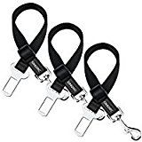 OMorc Dog Seat Belt [3 Pack] Dog Harness Pet Car Vehicle Seatbelt Pet Safety Leash Leads for Dogs/Cats Nylon Fabric Material 19-27 Inch Adjustable  Black
