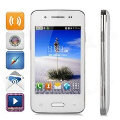 "L300 WCDMA Android 4.4 Smart Phone w/ 3.5"" Capacitive, Wi-Fi, FM, GPS, Bluetooth - White from 69,= for Euro 45,70"
