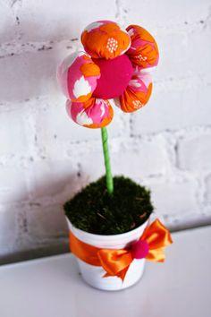 Wiosenne dekoracje do pokojów dziecięcych i do domów, flower, pink and grange,