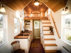 The Ynez model by Greenleaf Tiny Homes is available in 20′, 24′, or 28′ lengths, ranging from 240-304 sq.ft.  They offer several interior options (ladder vs stairs, kitchenette vs extended kitchen, etc) as well as Country or Cottage exteriors.  Prices start at $54,000. Images © Greenleaf Tiny Homes You may also like:Nomad Tiny Homes, Starting at $39,000Morrison 28′ hOMe by EcoCabins, ... Read More