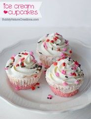 Ice Cream Cupcakes!  Such a fun way to serve ice cream and cake at a party!