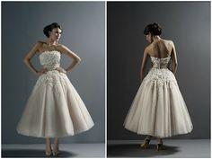 short Justin Alexander wedding dress 8465