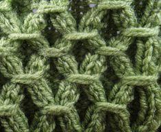 Strickmuster * GEBUNDENE KREISE * Cable Knitting, Knitting Videos, Knitting Stitches, Crochet Poncho Patterns, Knitted Poncho, Knitting Patterns, Tunisian Crochet, Knit Crochet, Yarn Needle