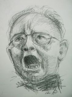Art Quick Sketch Face Pencil on Paper by Sittichai Pijitam(Cycnas) Quick Sketch, Line Drawing, Art Drawings, Pencil, Paper, To Draw, Kunst, Art Paintings