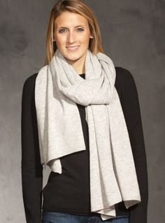 Ladies Cashmere Wrap in Earl Grey